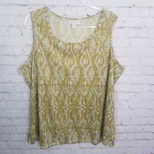 Coldwater Creek  sleeveless top plus size 3X